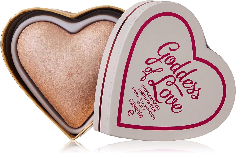 Makeup Revolution Blushing Hearts Triple Baked Highlighter, Goddess of Love