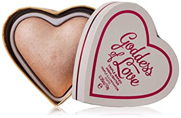 Amazon.com : Makeup Revolution Blushing Hearts Triple Baked Highlighter, Goddess of Love : Beauty