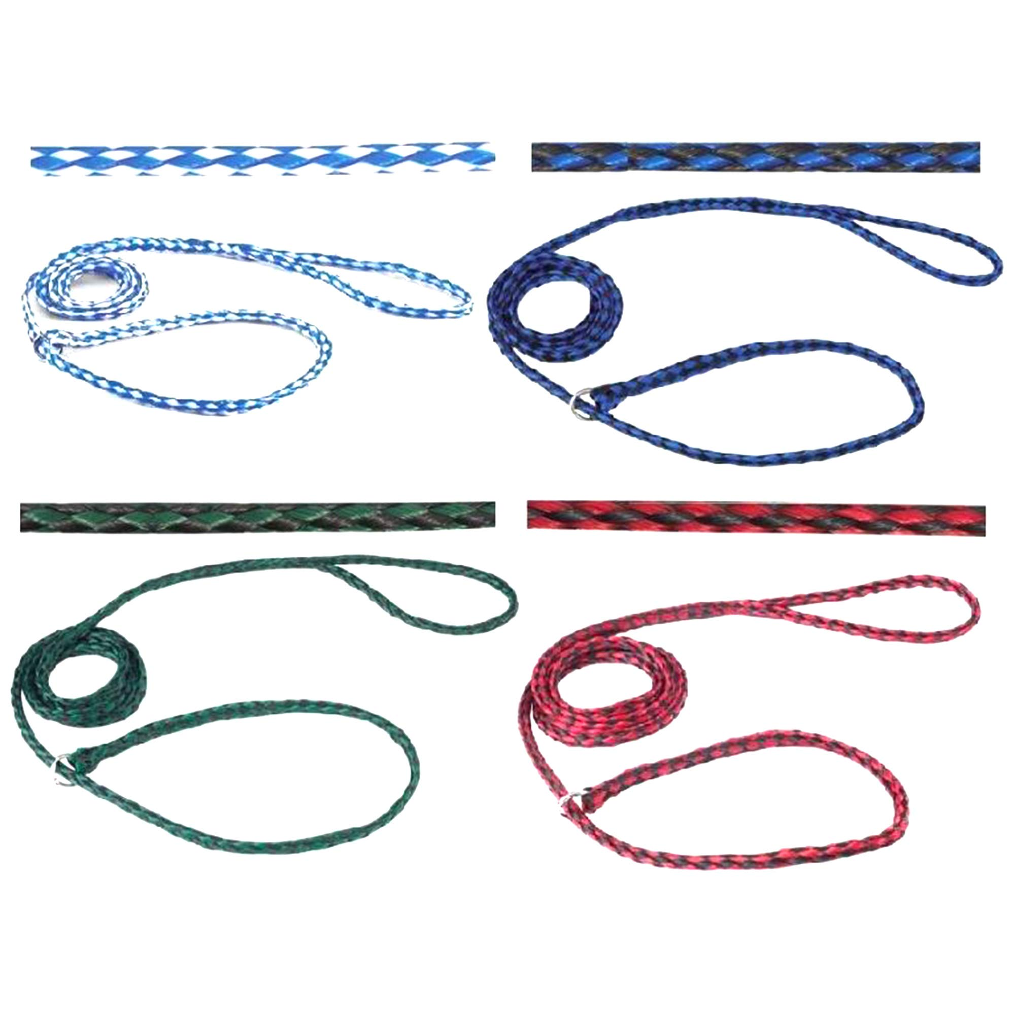 Durable Braided Poly Slip Leads, Animal Control Kennel 5 FT Slip Leads, Strong Leashes Dogs, Grooming, Shelter, Rescues, Vet, Veterinarian, Doggy Daycare Pet Training (48 Pack) by Downtown Pet Supply (Image #2)