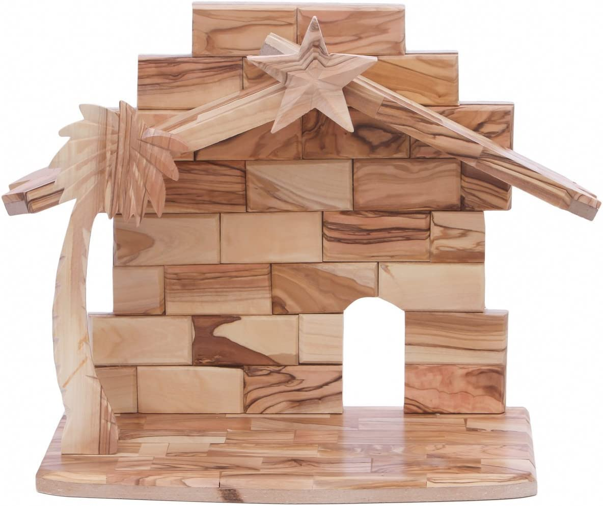 Zuluf Stable Olive Wood Nativity – NAT017