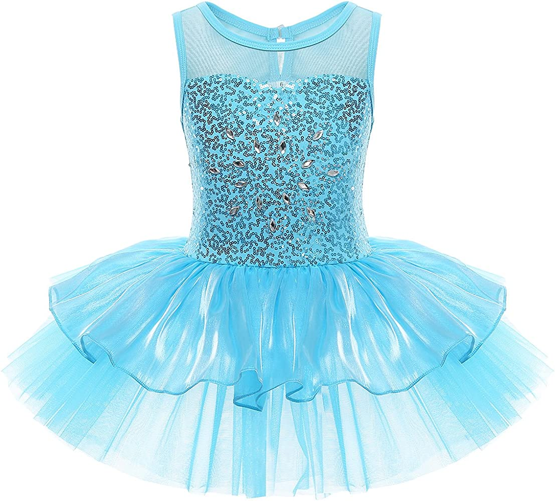 Toddler Kids Girls Gymnastic Ballet Leotard Tutu Dress Dance Wear Outfit Costume