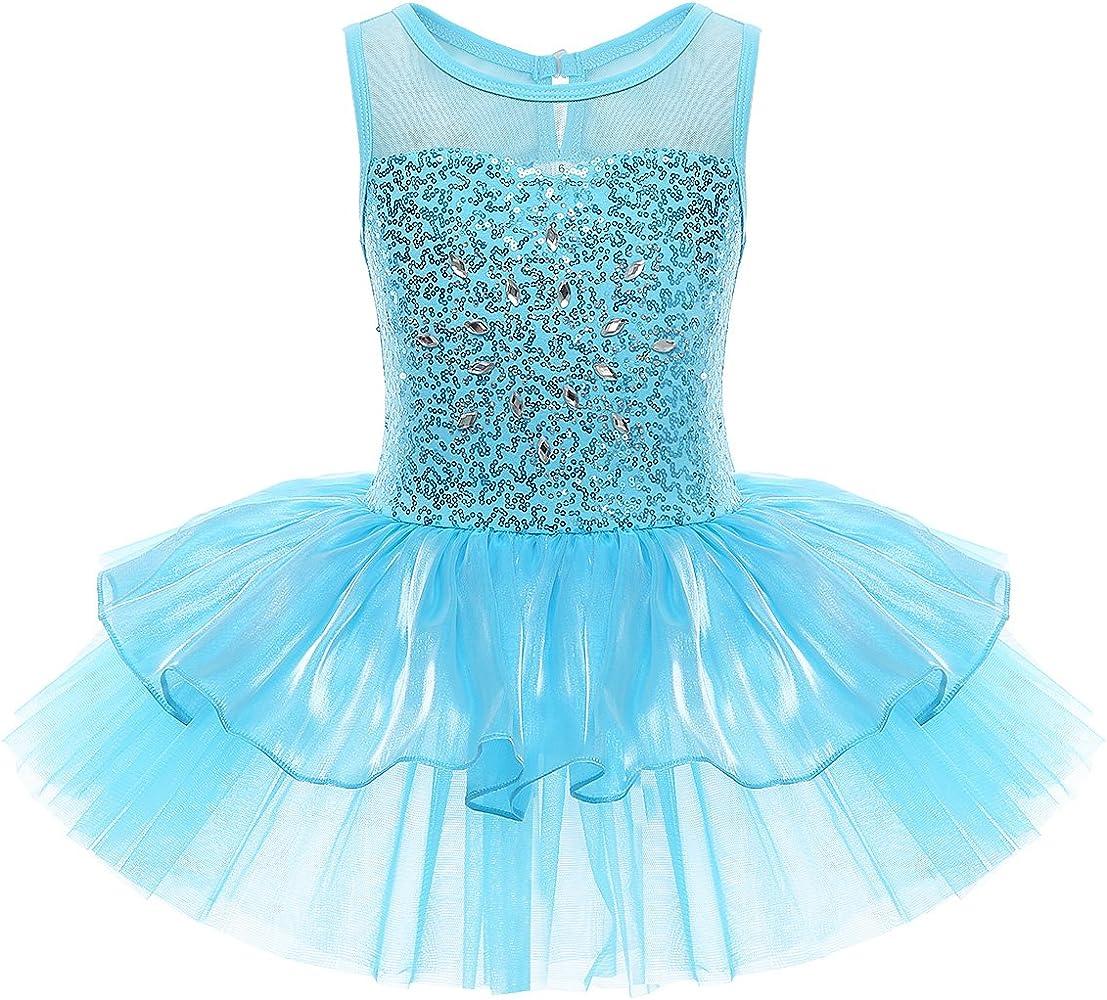 Girl Kid Ballet Tutu Dress Dance Wear Gymnastics Leotard Skirt Ballerina Costume
