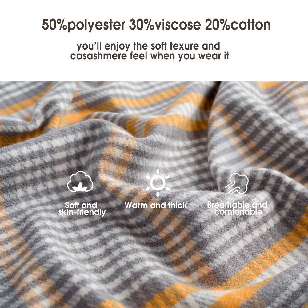 CARESEEN Womens Fashion Scarf Cashmere Feel Pashmina Shawl Wrap Warm Soft Winter Scarves for Women