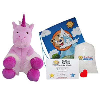 "Make Your Own Stuffed Animal 16"" ""Mystic The Unicorn - No Sew - Kit with Cute Backpack!: Toys & Games"