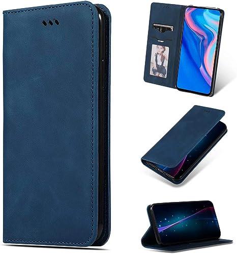 Funda para Samsung Galaxy A51 Funda Libro, Cartera Estuche Antigolpes Golpes de Cuero con Libro de Cuero Flip Case, Carcasa PU Leather con TPU Silicona Case Interna Suave Cierre Magnético azul: Amazon.es: