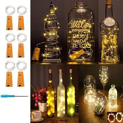 LED-Licht Wein Bierflasche Cork Copper Wire Fairy Night Lights