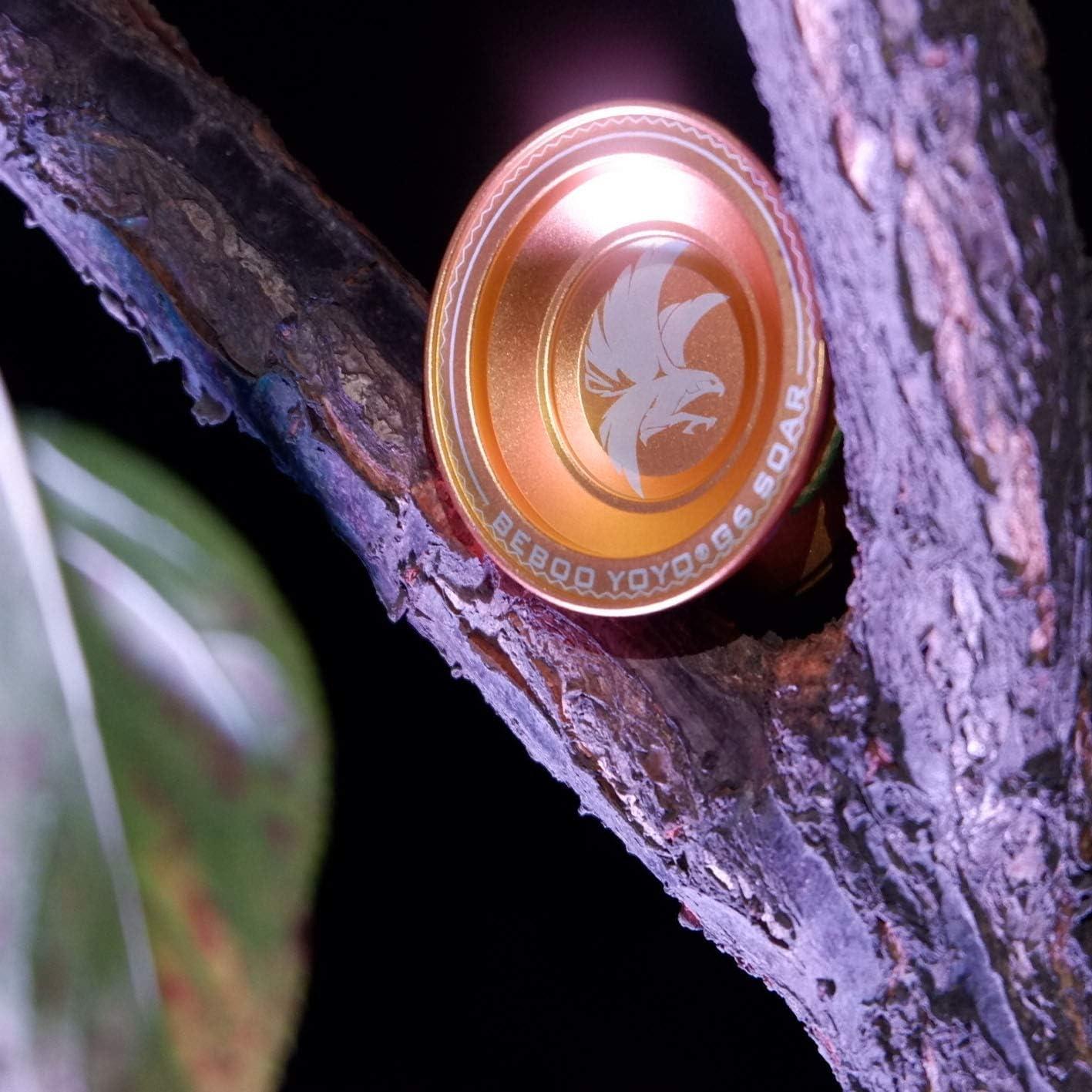 Huan Yu Newest Design Unresponsive YOYO G6 Polished Alloy Aluminum Professional Yo-yo Ball with Decent Package