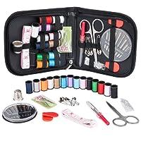 Kit de Couture, Coquimbo Set de Couture accessoires de couture Premium avec étui de transport, Kit de couture pratique pour la maison, voyage, utilisation d'urgence (noir)