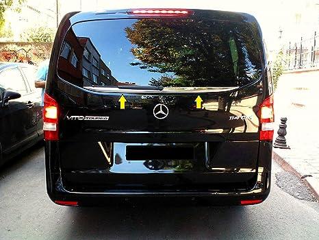 Lot de 2 moulures d/écoratives en acier inoxydable chrom/é pour Mercedes Vito W447//à partir de 2014