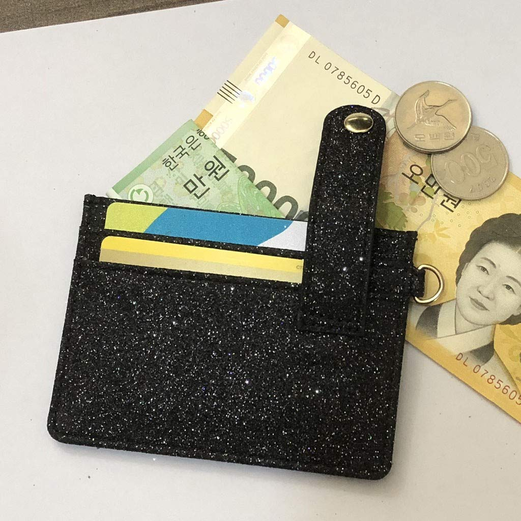 11X0.5X8cm,Black NRUTUP Women Fashion Credit Card Holder Buckle ID Holders Package Business Card