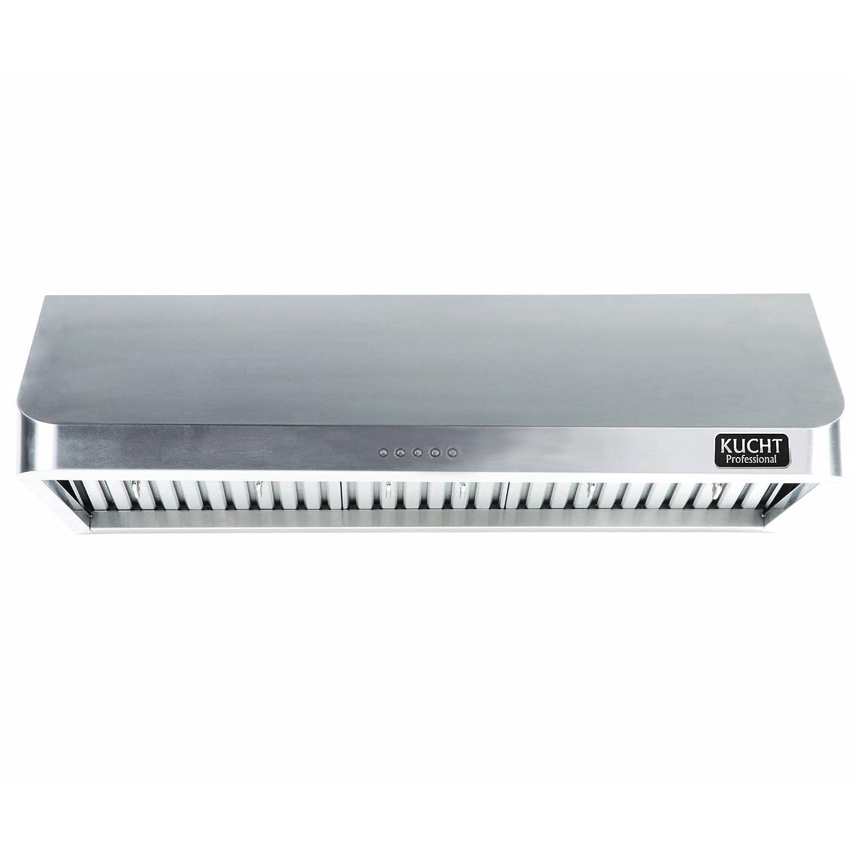 """900 cfm Kucht KRH3602U 36"""" Under Cabinet Range Hood, Stainless Steel"""