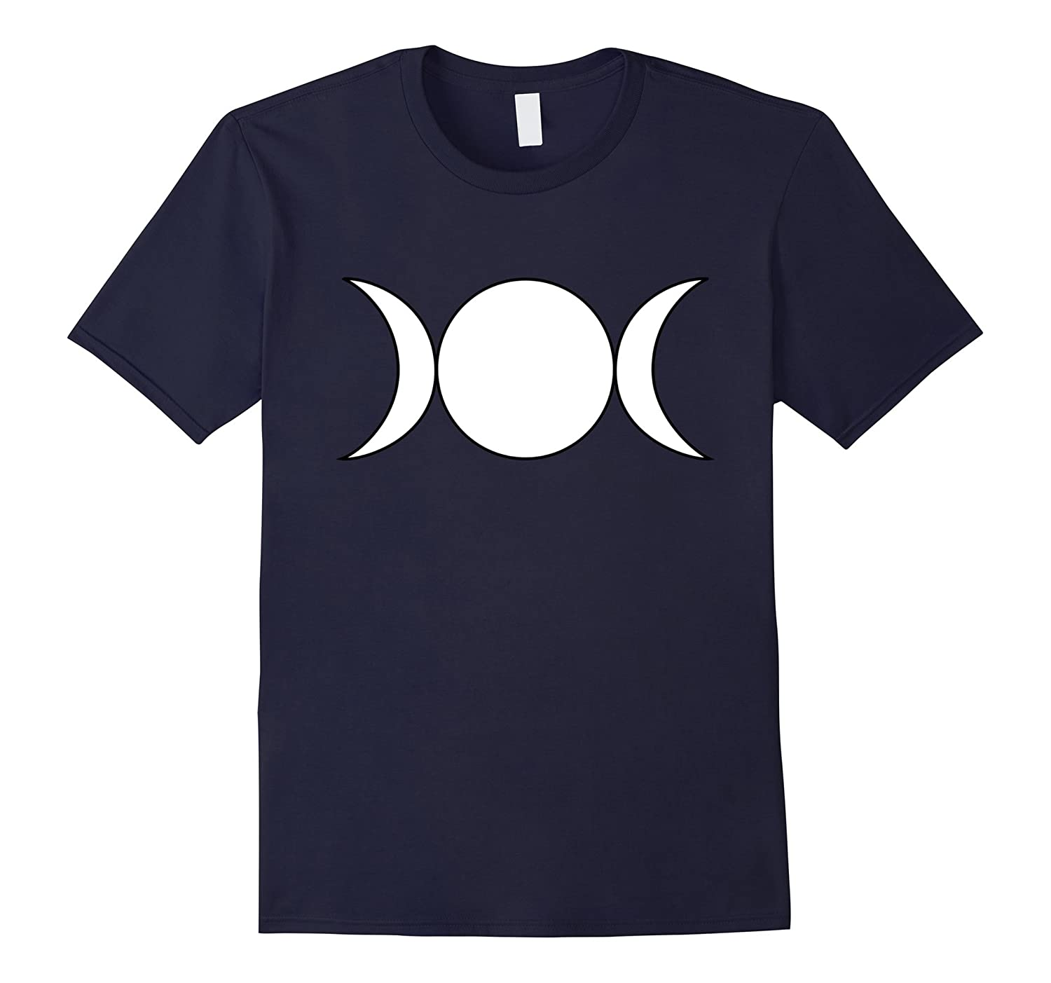 White Wiccan Triple Goddess T-Shirt Wiccan Religion-Teeae