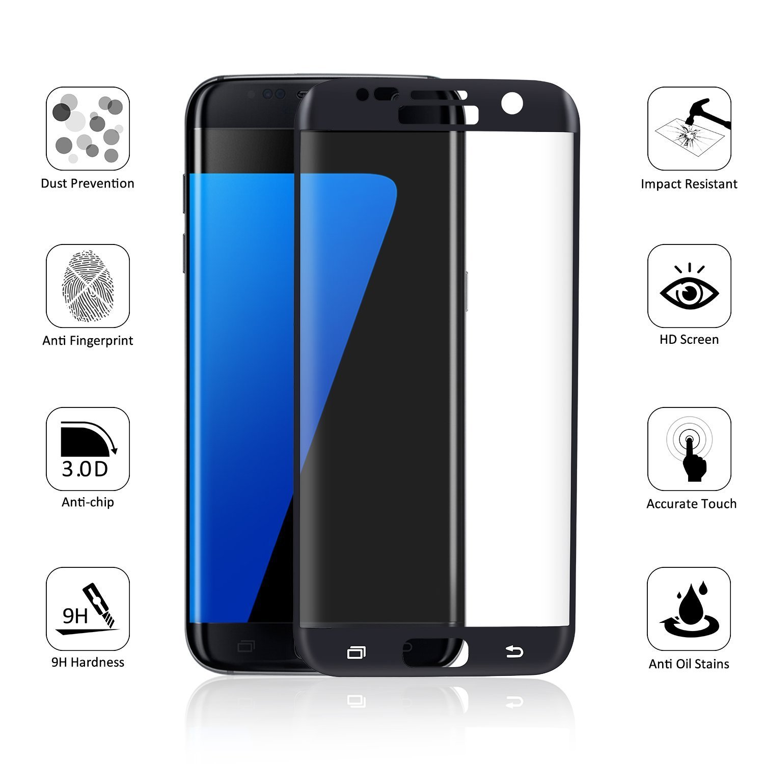 Amazon Samsung Galaxy S6 S7 Screen Protector Vanki Ultra HD Clear Full Coverage Screen Protector for S6 Edge S7 Edge Clothing