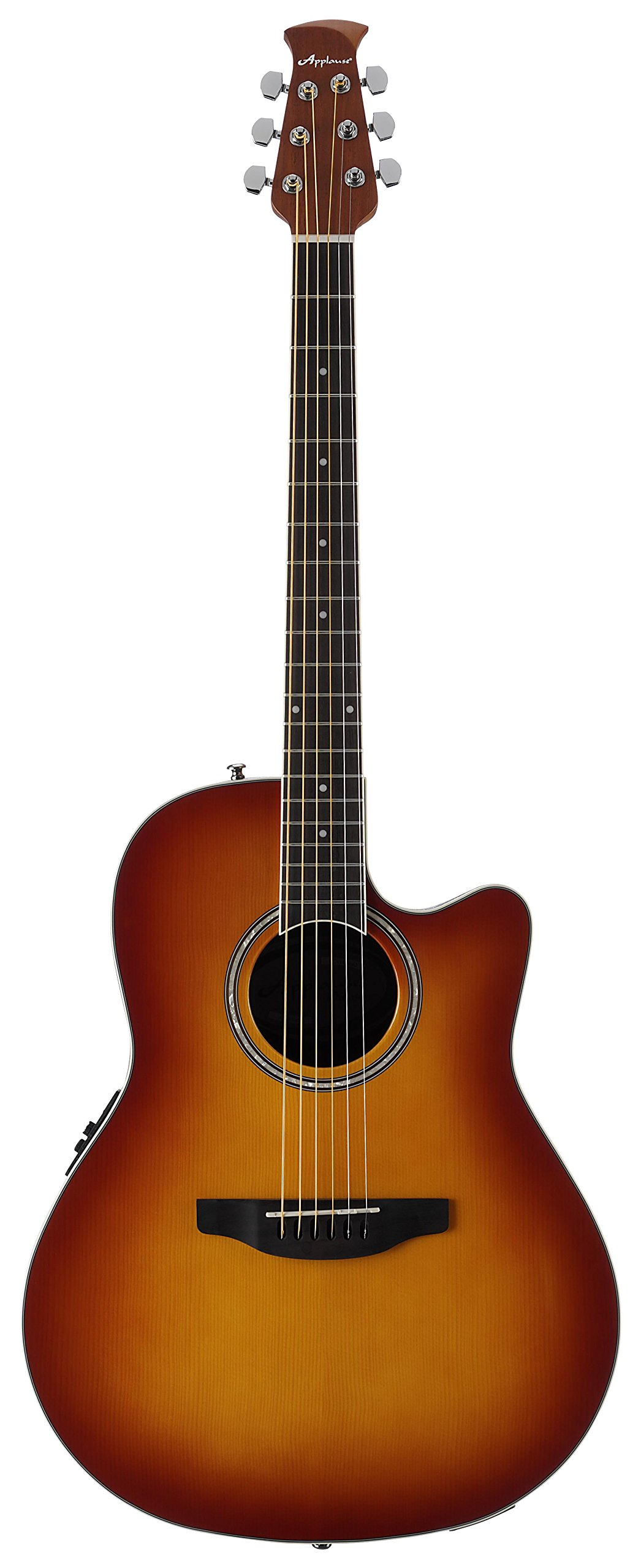Ovation Applause 6 String Acoustic-Electric Guitar, Right, Honey Burst, Mid-Depth (AB24II-HB)