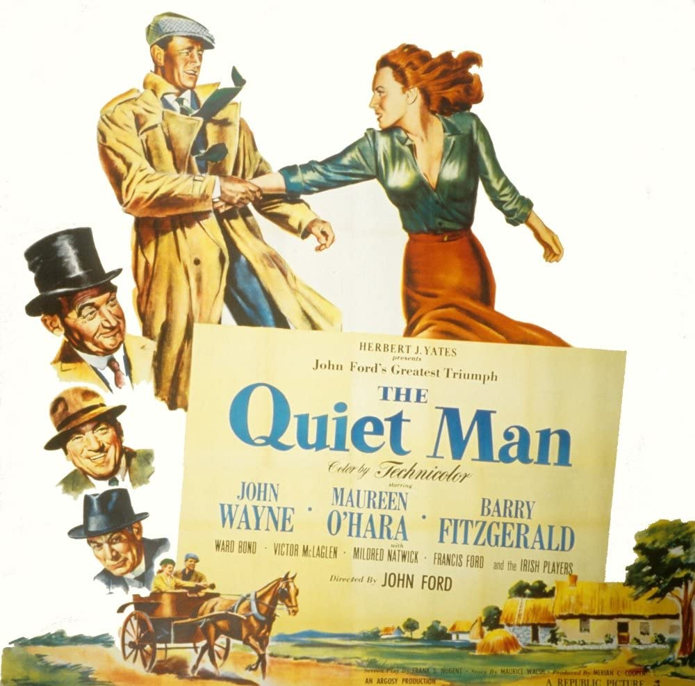 Posterazzi The Quiet Man John Wayne Maureen O'Hara Barry Fitzgerald Victor Mclaglen Ward Bond 1952 Movie Masterprint Poster Print, (14 x 11)
