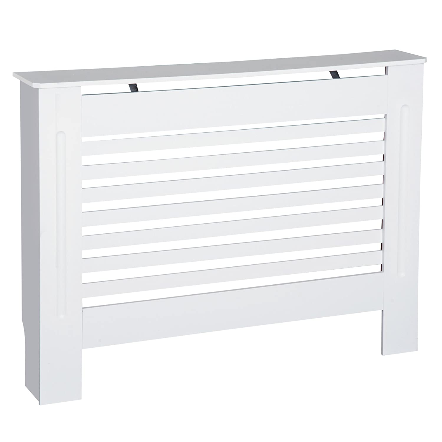 HOMCOM MDF Radiator Cover Wooden Cabinet Shelving Home Office Vertical Slattted Vent White 78L x 19W x 81H Sold by MHSTAR