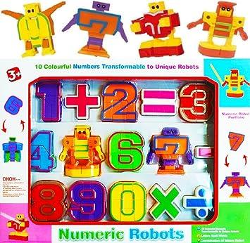 Baellar Juguetes Educativos Transformers Number Robots Set Aprender Números y Cálculos para Niños Pequeños