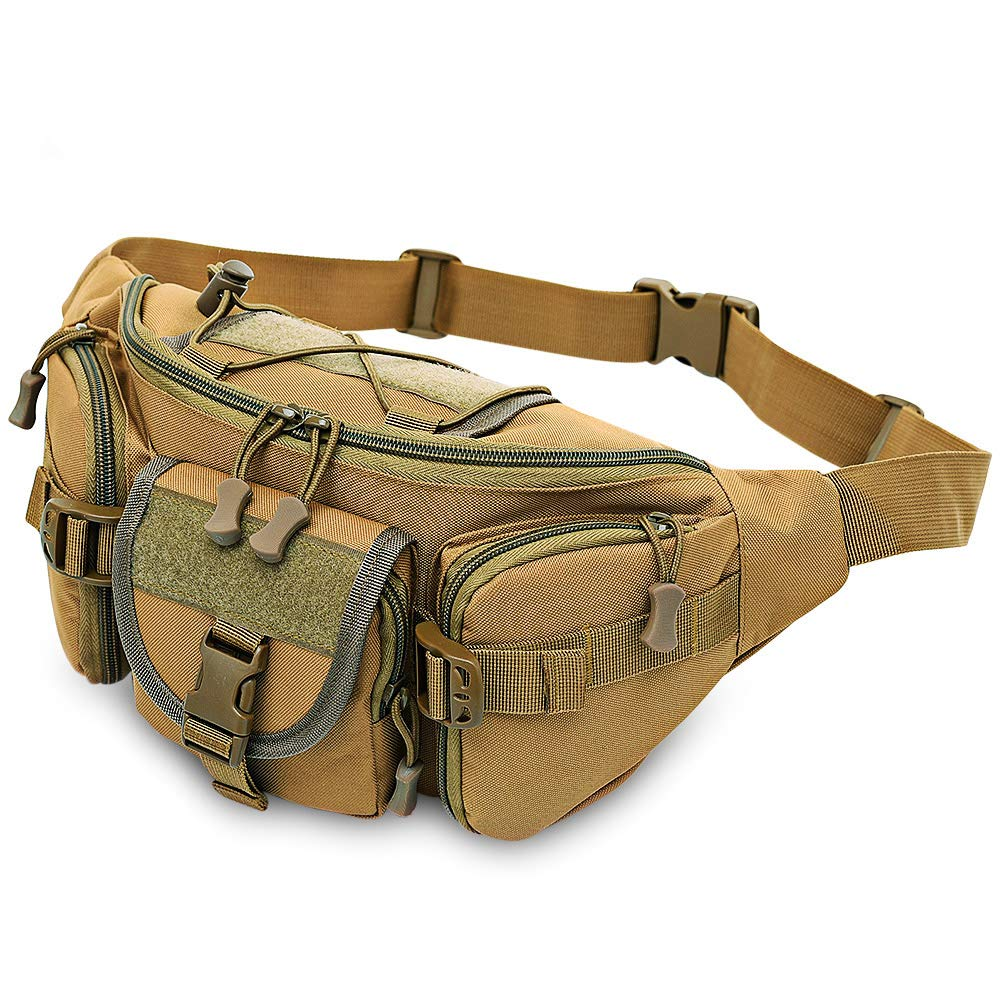Khaki  CGMZN Sac à Dos  3-5L  Waist sac  imperméable Waist Fanny Pack Hiking Fishing Sport  sacs Camping Sport sac Belt