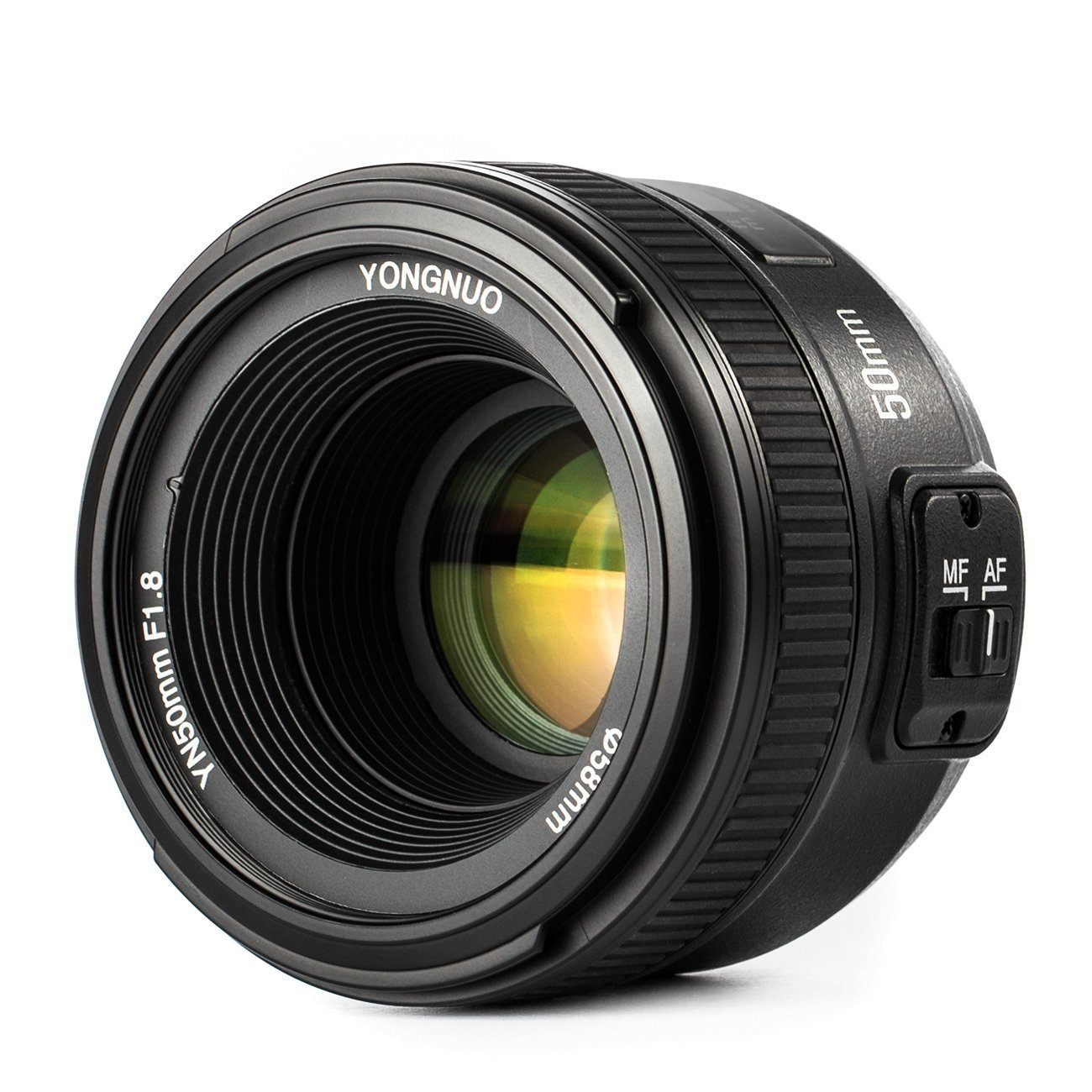 YONGNUO YN50mm F1.8 Lens Large Aperture Auto Focus Compact Lens with WINGONEER Flash Diffuser for Nikon Camera by Yongnuo