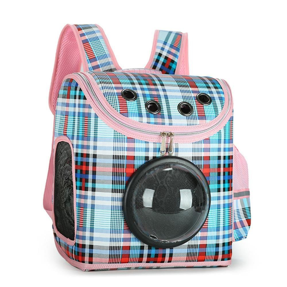 Dixinla Pet Carrier Backpack Dual-shouldered space capsule out of pocket travel with breathable PU polyester 31  19  37CM