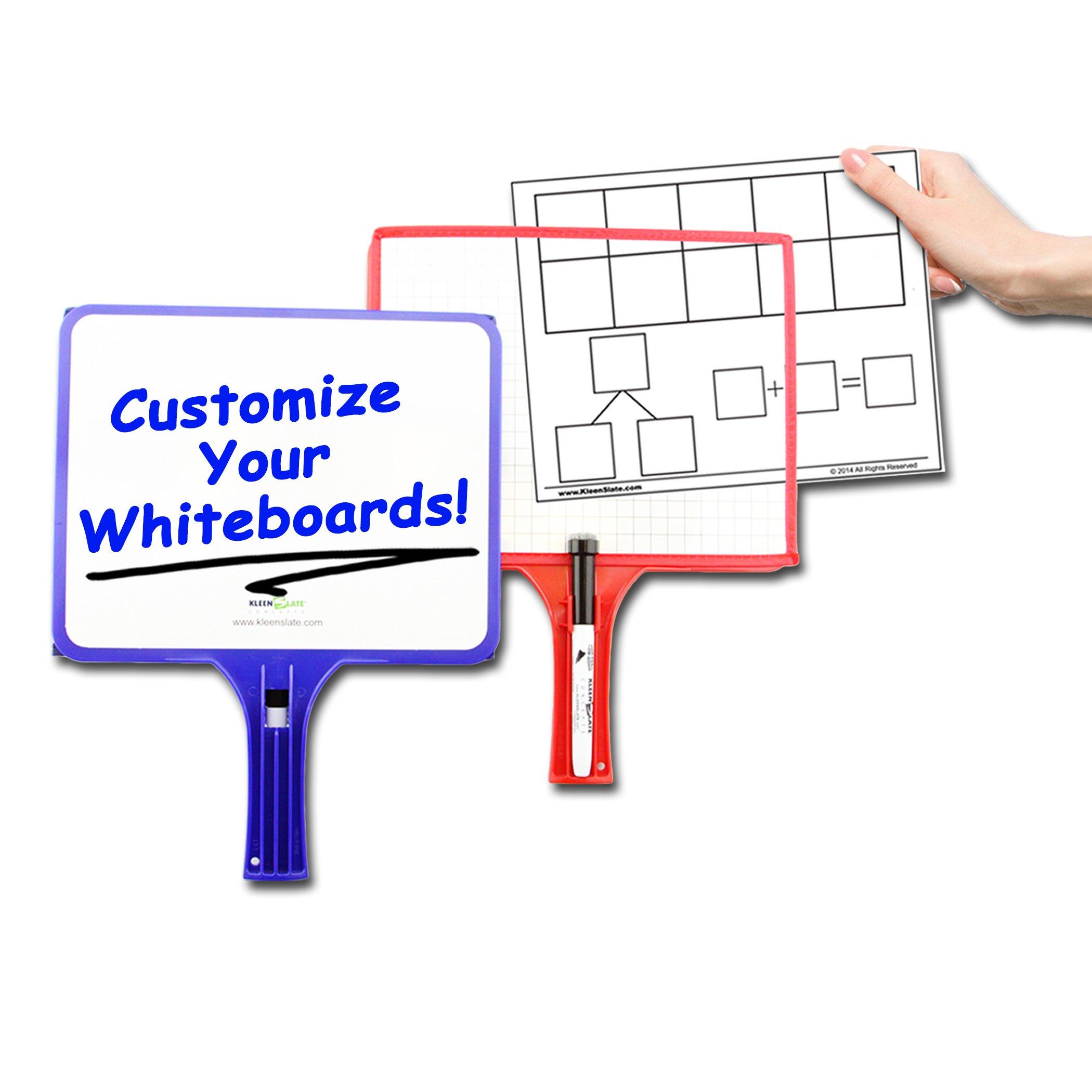 Set of 12 Customizable whiteboards w/Dry Erase Sleeve & Interchangeable Graphic Organizers + Bonus by KleenSlate (Image #5)