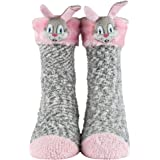 Soft Plush Seamless Knitted Critter 3D Ankle Socks for Christmas & Cold Weather