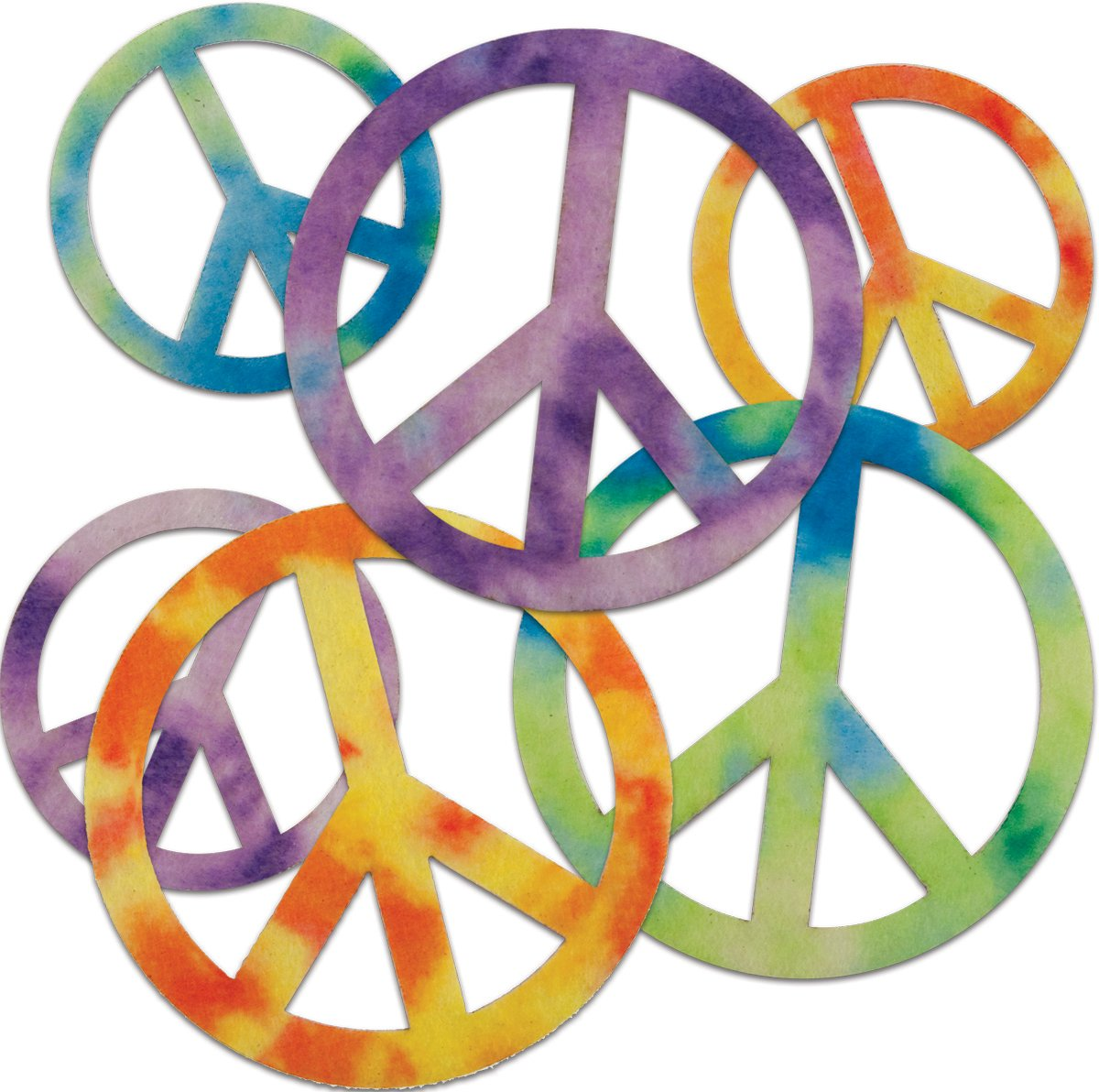 New Image Group 465964 Stick It Felt Shapes 24-Pkg-Peace Signs B0053AV16O