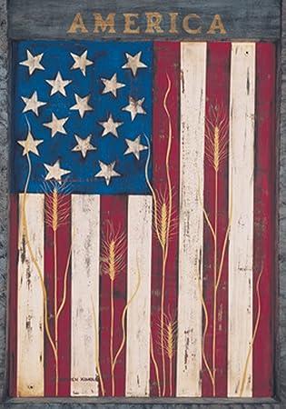 7cdc494954f Amazon.com   Toland - America - Decorative Patriotic Rustic Red ...