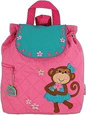 Stephen Joseph Little Girls' Quilted Backpack, Girl Monkey, One Size