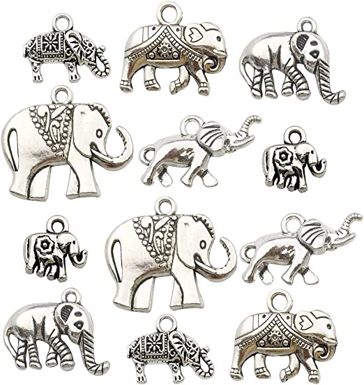 Retro style Zinc alloy  Tiger head  Pendants accessories 18pcs