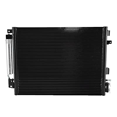 AC Condenser A/C Air Conditioning w/Transmission Cooler & Receiver Drier: Automotive