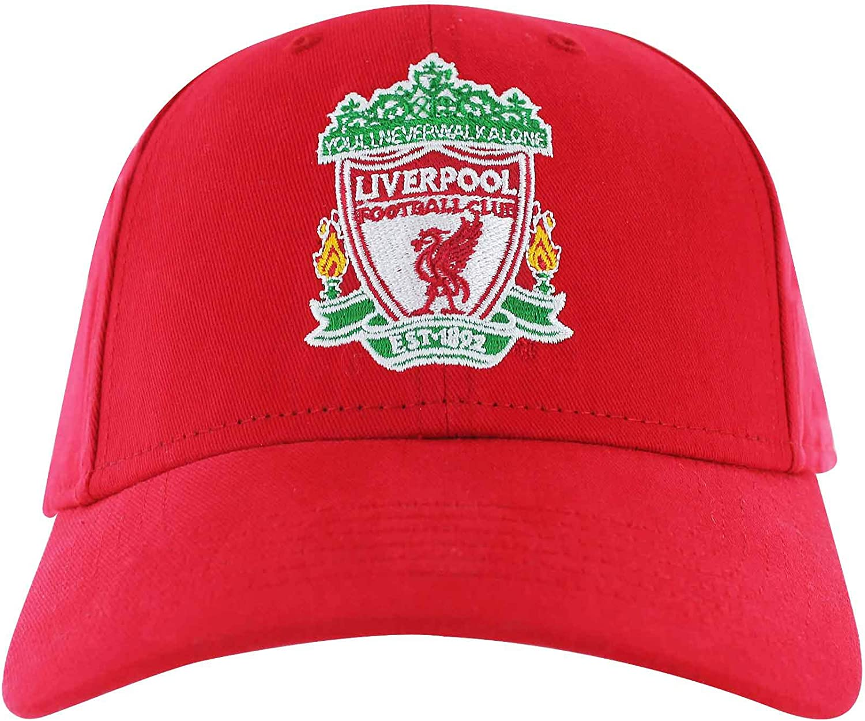 Offizielle Premier League Liverpool FC Baseballkappe 100 /% Baumwolle, verstellbar