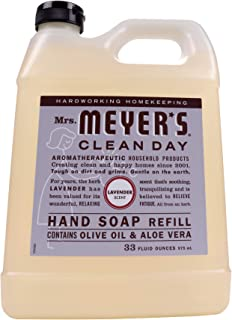 product image for Mrs. Meyer's Clean Day Liquid Hand Soap Refill, Cruelty Free and Biodegradable Formula, Lavender Scent, 33 oz