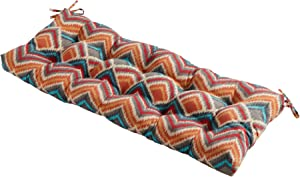 South Pine Porch Outdoor Surreal Chevron 44-inch Swing/Bench Cushion