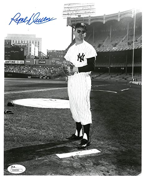 Ryne Duren Signed NY Yankees Authentic Autographed 8x10 B W Photo ... e9d49c87e63