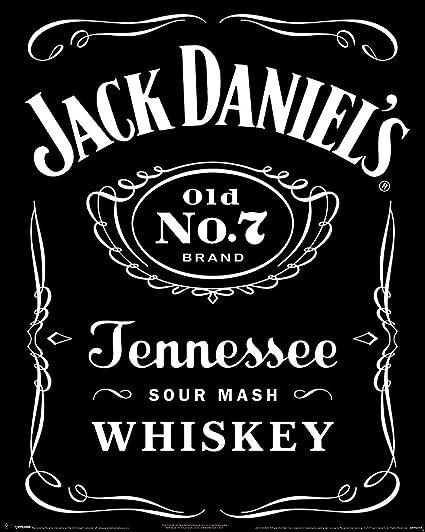 Laminated Jack Daniels Label Mini Poster 40 X 50cm Amazoncouk