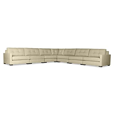 South Cone Home Mayfair Buttoned Modular Sectional Right And Left Arms L-Shape King, Sand