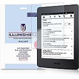 "iLLumiShield - Amazon Kindle Paperwhite 6"" Screen Protector 2015 w/ HD Blue Light UV & Lifetime Replacement / Clear Anti-Fingerprint / Anti-Bubble Shield - [2-Pack] Wifi/3G Compatiblity"