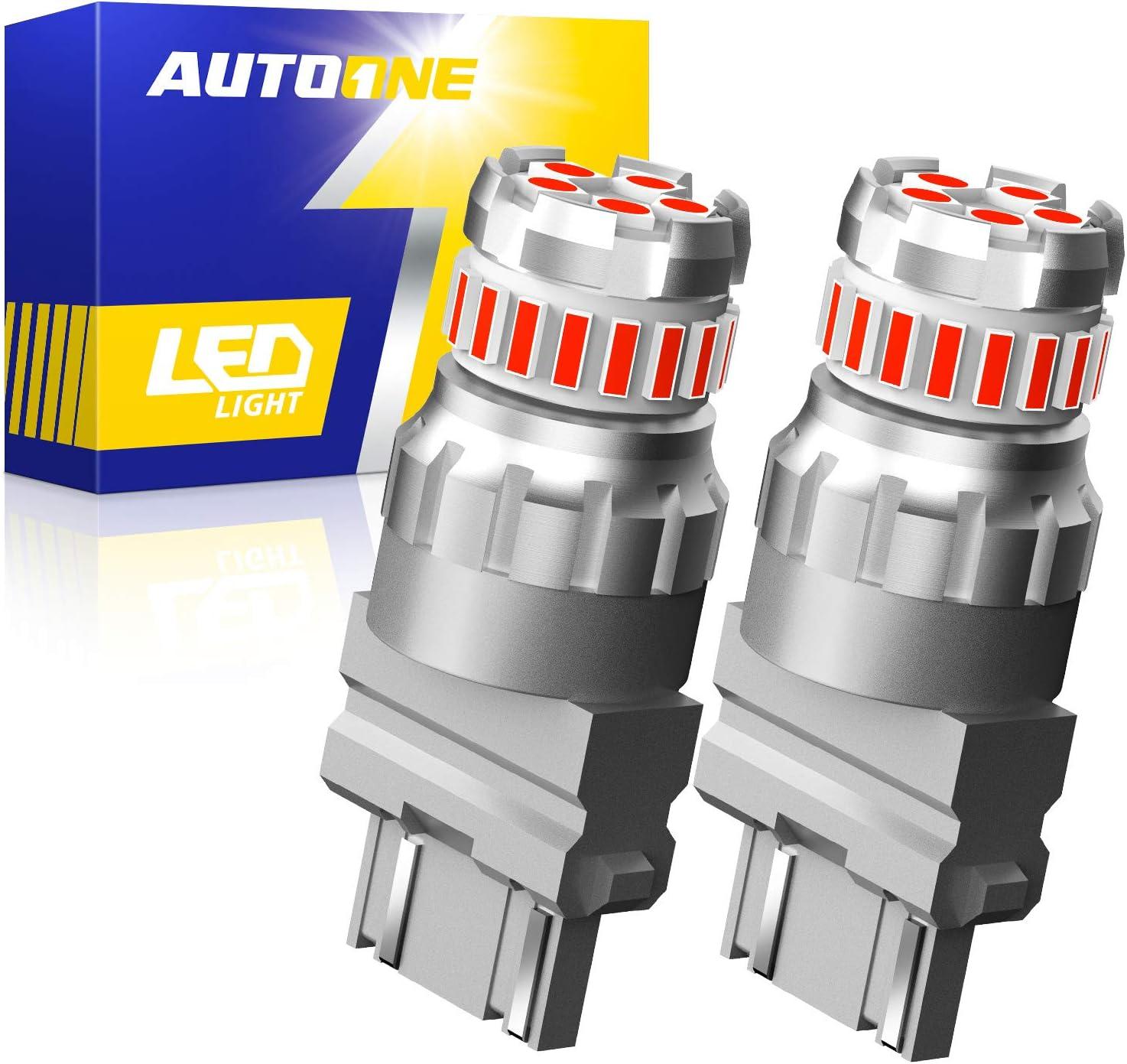AUTOONE 3157 LED Bulbs Red LED Brake Tail Lights 3056 3156 3156A 3057 4057 4157 Light Bulbs