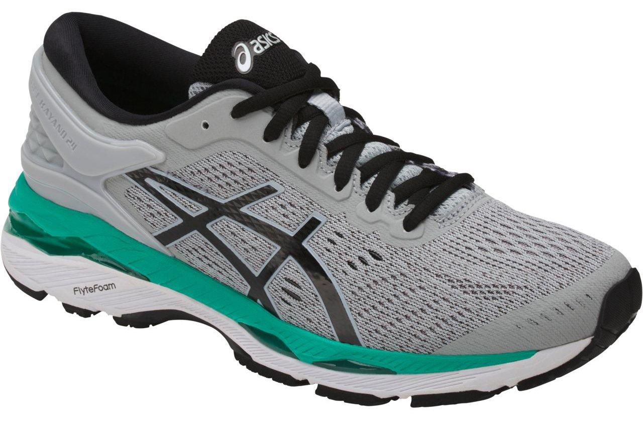 ASICS Women's Gel-Kayano 24 Running Shoe, Mid Grey/Black/Atlantis, 9 Medium US by ASICS (Image #5)