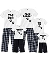 Footsteps Clothing Personalized Dog Pack Family Matching Pajamas & Kids Playwear