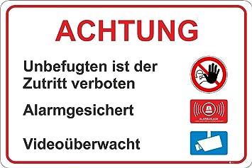 Rótulo indicador «Zutritt für Unbefugte verboten», iSecur ...