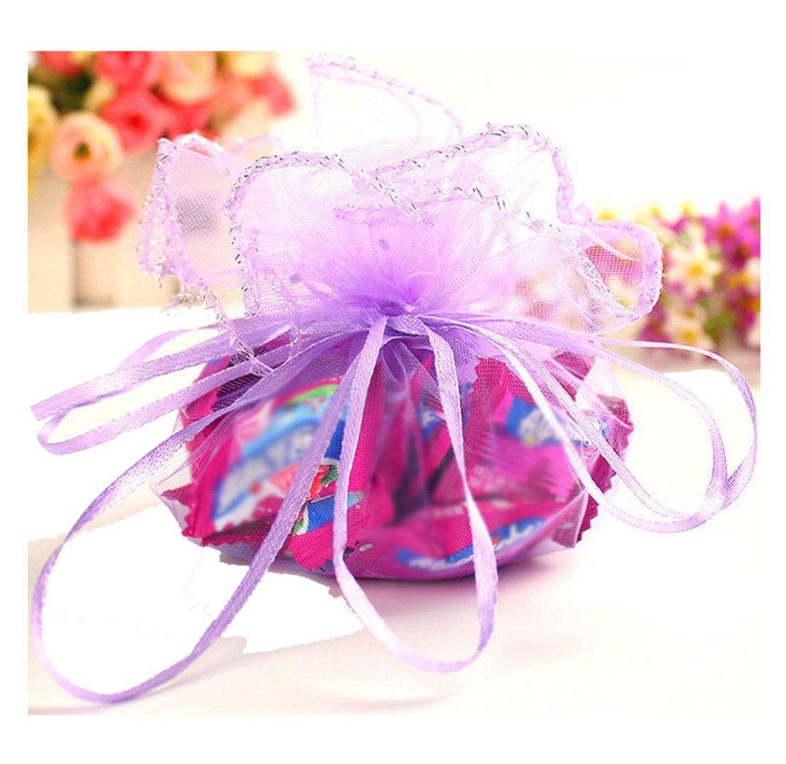 Amazon.com: Freedi 100Pcs Organza Drawstring Jewelry Bags Wedding ...