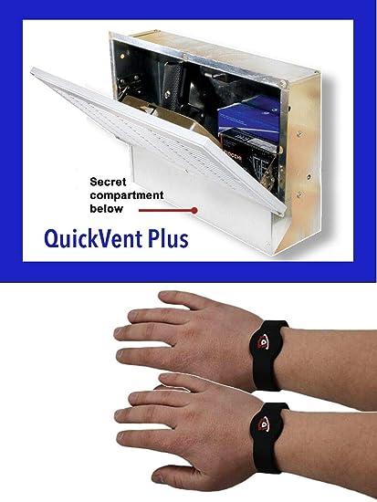 QuickSafes Quick Vent Safe Plus, w/RFID Locking System, Secret Compartment,  White Grill, QVSXL