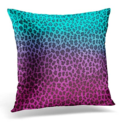 Amazon TORASS Throw Pillow Cover Blue Girly Purple Pink Green Impressive Purple And Green Decorative Pillows