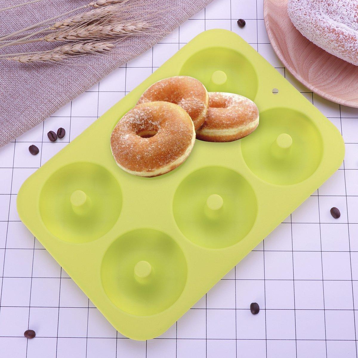 ounona 2 unidades 6 Cavidad NONSTICK Donut Cacerola Silicona ...