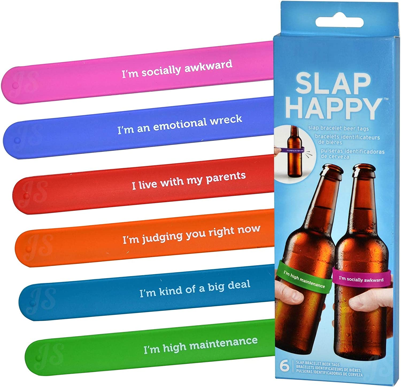 Preis am Stiel Juego de 6 rotuladores para Botellas con Texto Slap Happy: Amazon.es: Juguetes y juegos