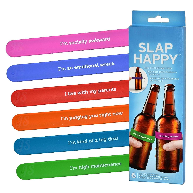 Preis am Stiel Juego de 6 rotuladores para Botellas con Texto Slap ...