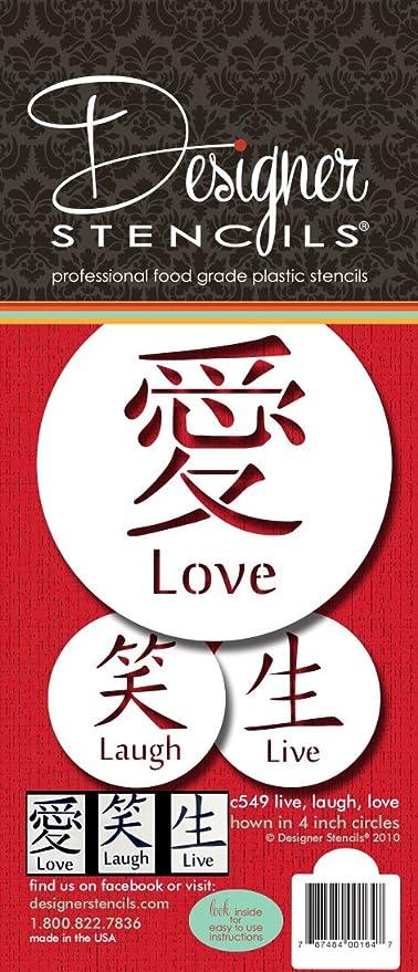 Laugh Symbols set C549 Live,Love Designer Stencil