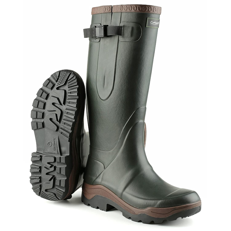 Cotswold Mens Compass Neoprene Rain Boots B07B6VF4SZ 6 M US|Green